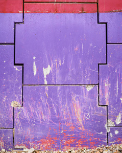 Da série: El dibujo, la escritura , la abstracción (La Abstracción I, Morada)