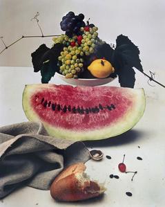 Still life with Watermelon, NY.