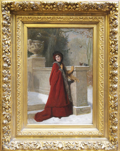Woman in Red Cape