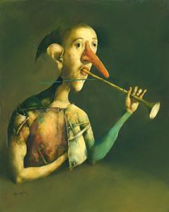 Le trompettiste au faux nez