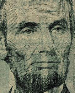 Five US Dollars - Lincoln (from the Face of Money Series)
