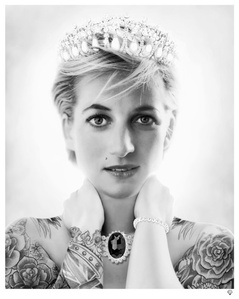 Princess Diana (black & white)