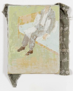 Untitled (Man sitting on a bed)