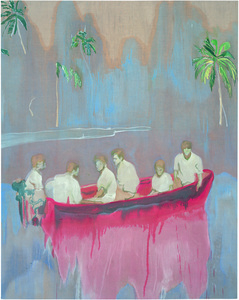 Figures in red Boat