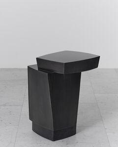Ledges 3 Blackened Steel Side Table, USA