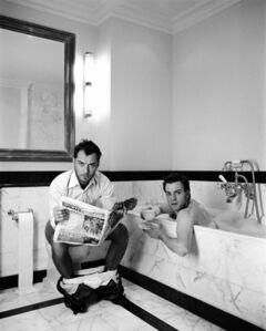 Jude and Ewan in the bathroom