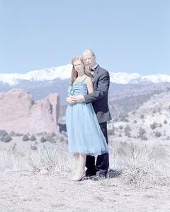 Grace Kruse, 14 years & Gary Kruse. Black Forest, Colorado.