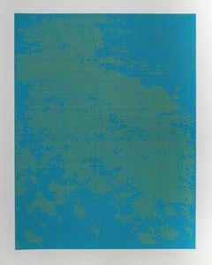 Cadmiun yellow on light blue