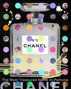 Chanel #5 Silver on Black
