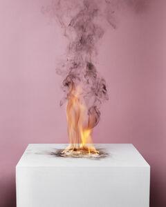 Camphor Flame on Pedestal (0432)