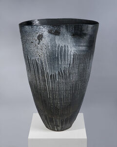 Soaring Black Vessel with Drips