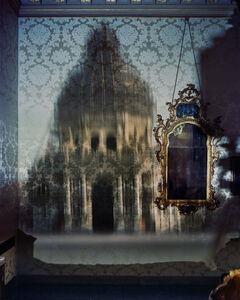Blurry Upright Camera Obscura: Santa Maria Della Salute with Scaffolding in Palazzo Bedroom, Venice