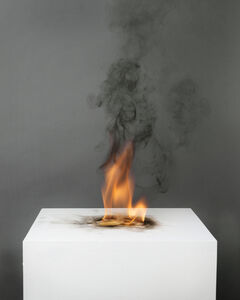 Camphor Flame on Pedestal (0439)