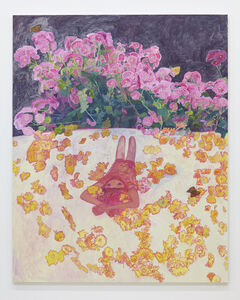 Floral patterned futon