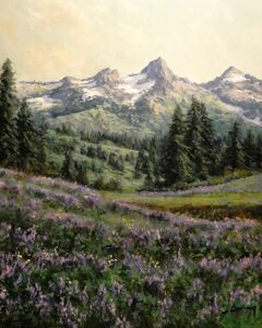 Mountain Valley with Purple