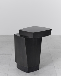 Ledges 3 Blackened Steel Side Table, USA