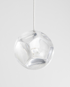 """Dodecahedron"" chandelier and optical instrument with clear lenses"