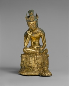 Pensive bodhisattva (금동반가사유상 삼국 金銅半跏思惟像 三國)