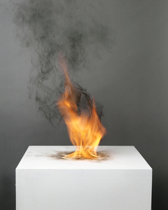 Camphor Flame on Pedestal (0415)
