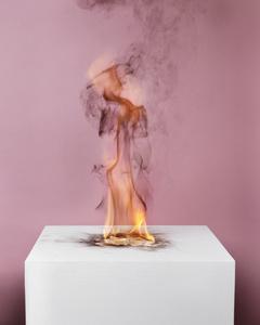 Camphor Flame on Pedestal (0433)