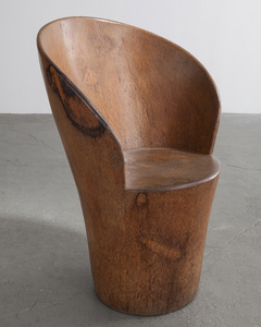 Solid tree trunk lounge chair