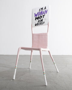 """I'm a Woman Not an Object,"" Adult Chair"