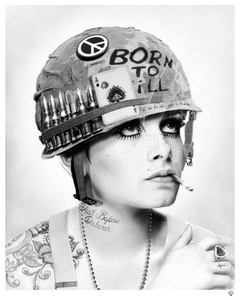 Full Metal Twiggy (black & white)