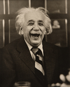 Albert Einstein at a Princeton University Luncheon