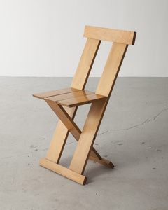 "Prototype of the ""Frei Egidio"" chair. Designed by Lina Bo Bardi, Marcelo Ferraz and Marcelo Suzuki, Brazil, 1980s."
