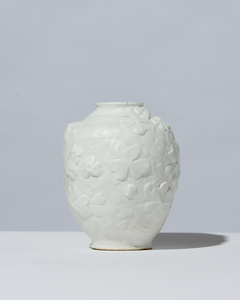 Ovoid Bisque Vase