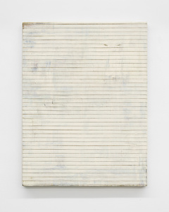 Untitled (cut painting, white)