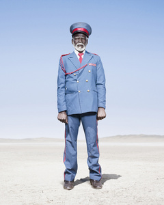 Herero Soldier in Blue Uniform