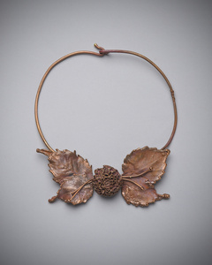 Globe Ameranth Leaf Necklace