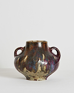 Oxblood Handled Vase