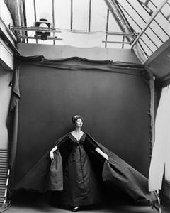 Suzy Parker, Evening Dress by Dior, Paris Studio, August 1956