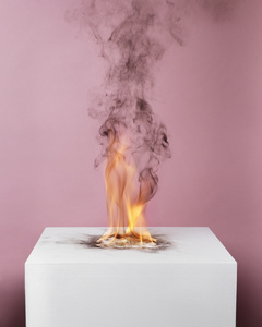 Camphor Flame on Pedestal (0432)
