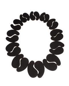 Short Tapered Lima Necklace (Black&White)
