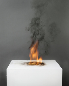 Camphor Flame on Pedestal (0439)