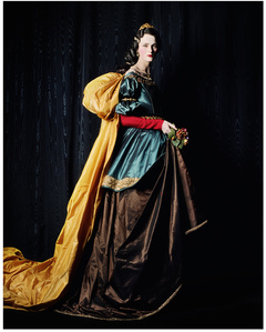 Carmen as Zurbarán's Saint Elizabeth