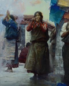 Pilgrims Making Wishes