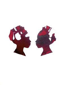 Mirror Image Alizarin Crimson