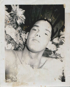Untitled (Portrait of a Man in Front of Floral Fabric)