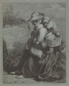 Seated Peasant Woman with Sleeping Child