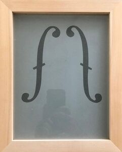 Acid etched Music Note Clef Glass Wall Sculpture Artwork Framed ed. 25 Signed