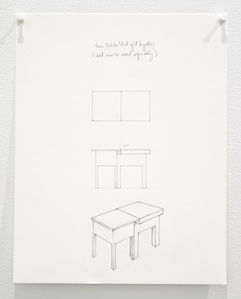 Untitled (two tables that fit together but can be used separately)
