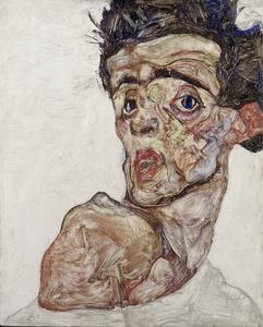 Self Portrait with Raised Bared Shoulder