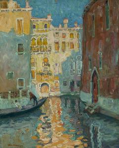 Sunlit Canal, Venice