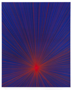 Untitled (Red Beam on Blue)