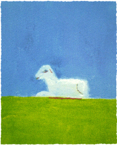 Lamb in a Green Field