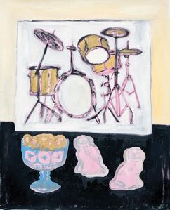 Still Life With Picture Of Drumkit